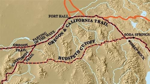 Oregon-California trail with Hudspeth Cutoff