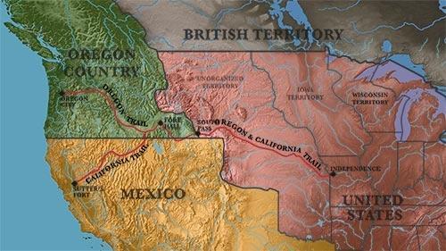 Map circa 1840s