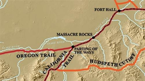 Oregon-California Trail with Parting of the Ways