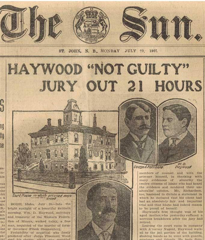 "HAYWOOD ""NOT GUILTY"" JURY OUT 21 HOURS"