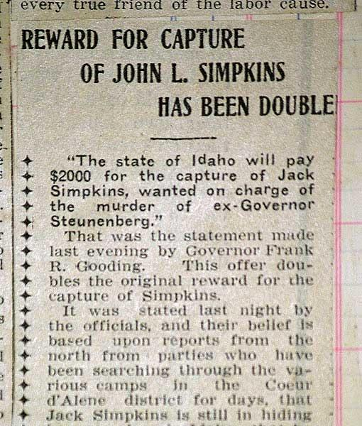 REWARD FOR CAPTURE OF JOHN L. SIMPKINS HAS BEEN DOUBLED
