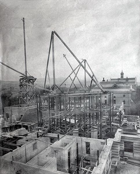 Construction of the Capitol building