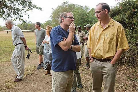 Greg Carr and Steve Burns in Gorongosa National Park