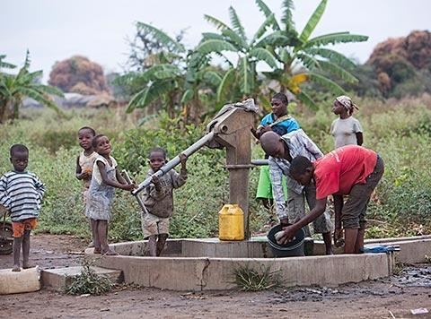 Water pump supplied to villagers by Gorongosa Restoration Project - photo by Katherine Jones