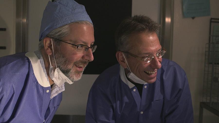 Neil Shubin and Jay Neitz smiling