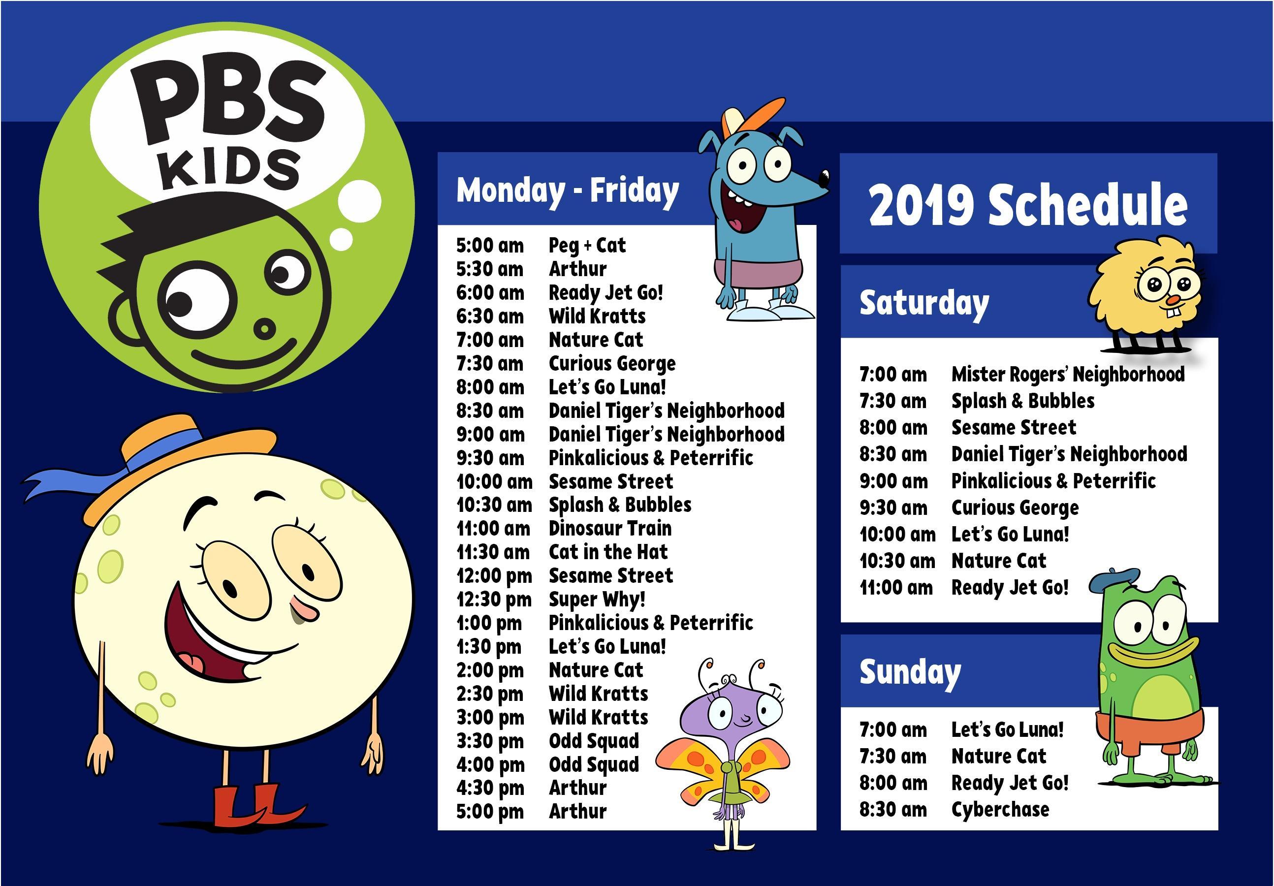 Pbs Schedule 2019 Kids Schedule