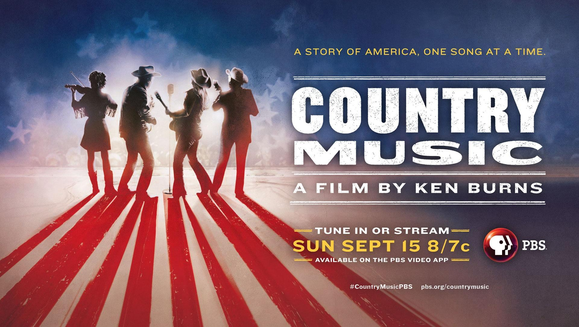 A Story of America Once Song at a Time. Country Music A film by Ken Burns - Tune in or stream Sun Sept 15 8/7c Available on the PBS Video App #CountryMusicPBS