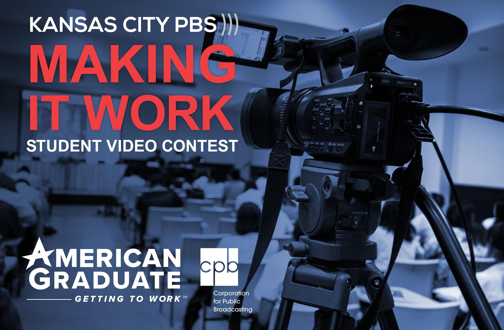 Making it Work Student Video Contest American Graduate Getting to Work - video camera in classroom image