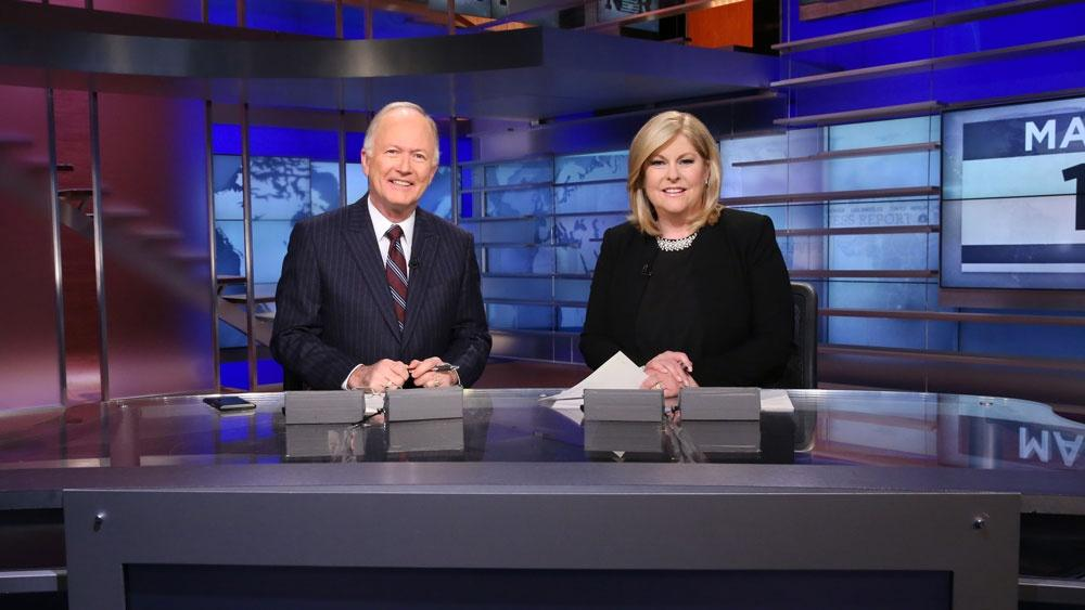 Bill Griffeth and Sue Herera. Photos courtesy of CNBC.