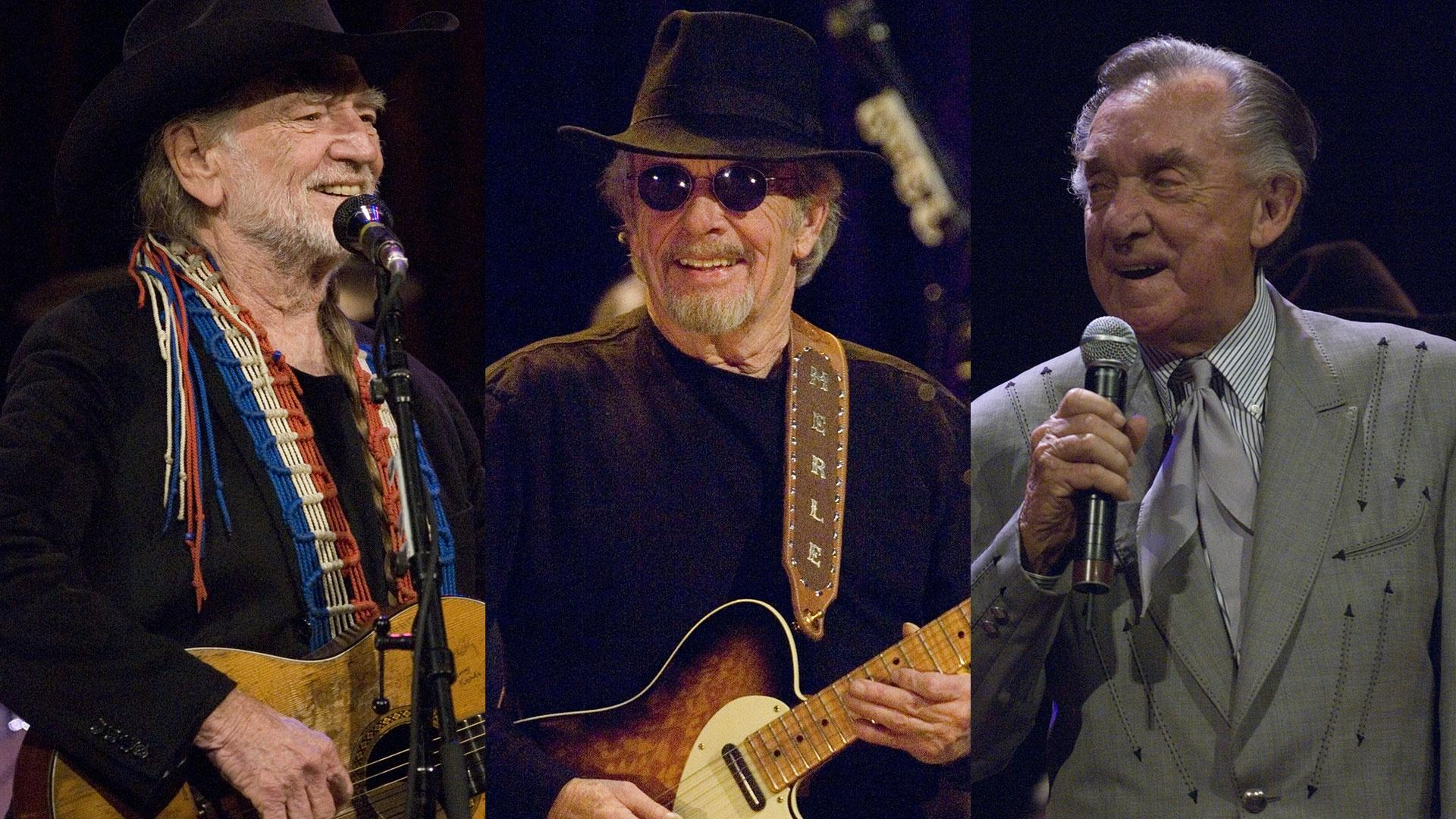 Willie Nelson, Merle Haggard and Ray Price