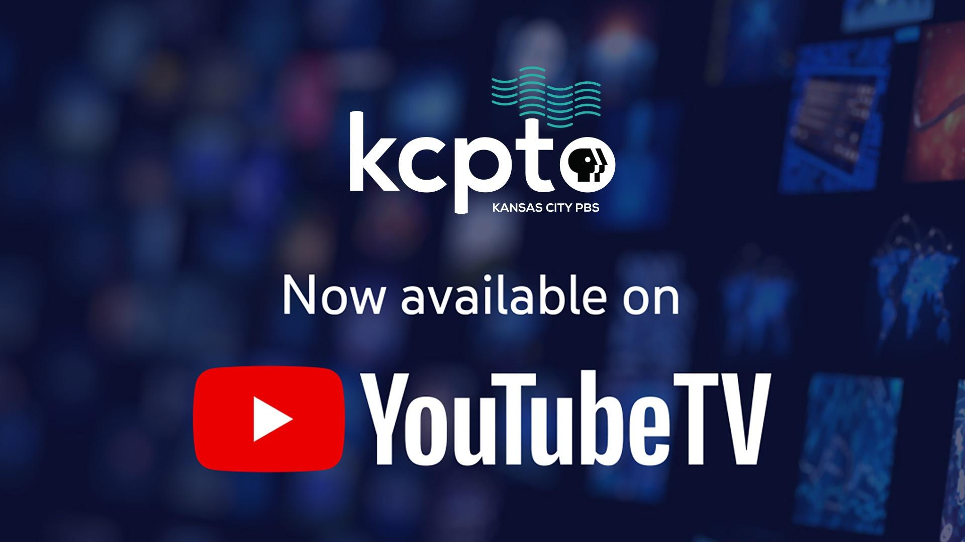KCPT Logo - Now available on YouTubeTV