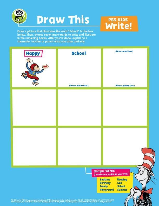 Draw This! PBS Kids Worksheet