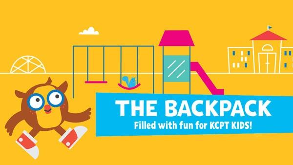 PT the owl on playground, The Backpack - filled with fun for KCPT Kids!