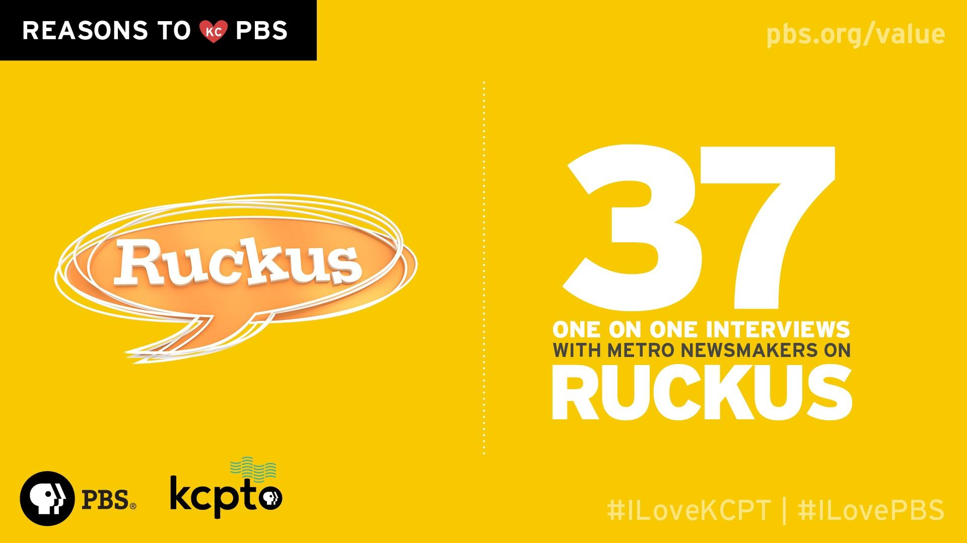 37 one on one interviews with metro newsmakers on Ruckus.