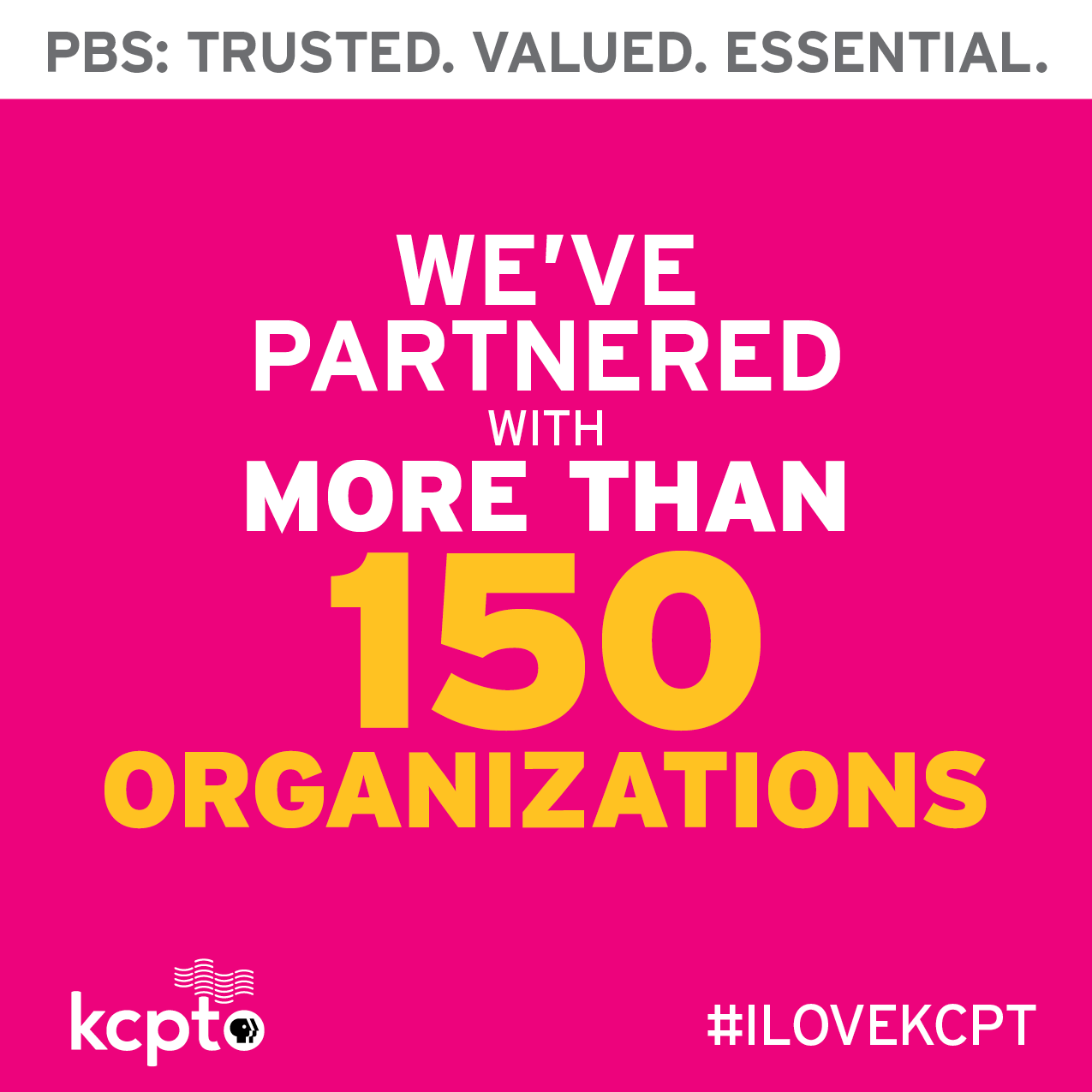 KCPT is partnered with more than 150 organizations.
