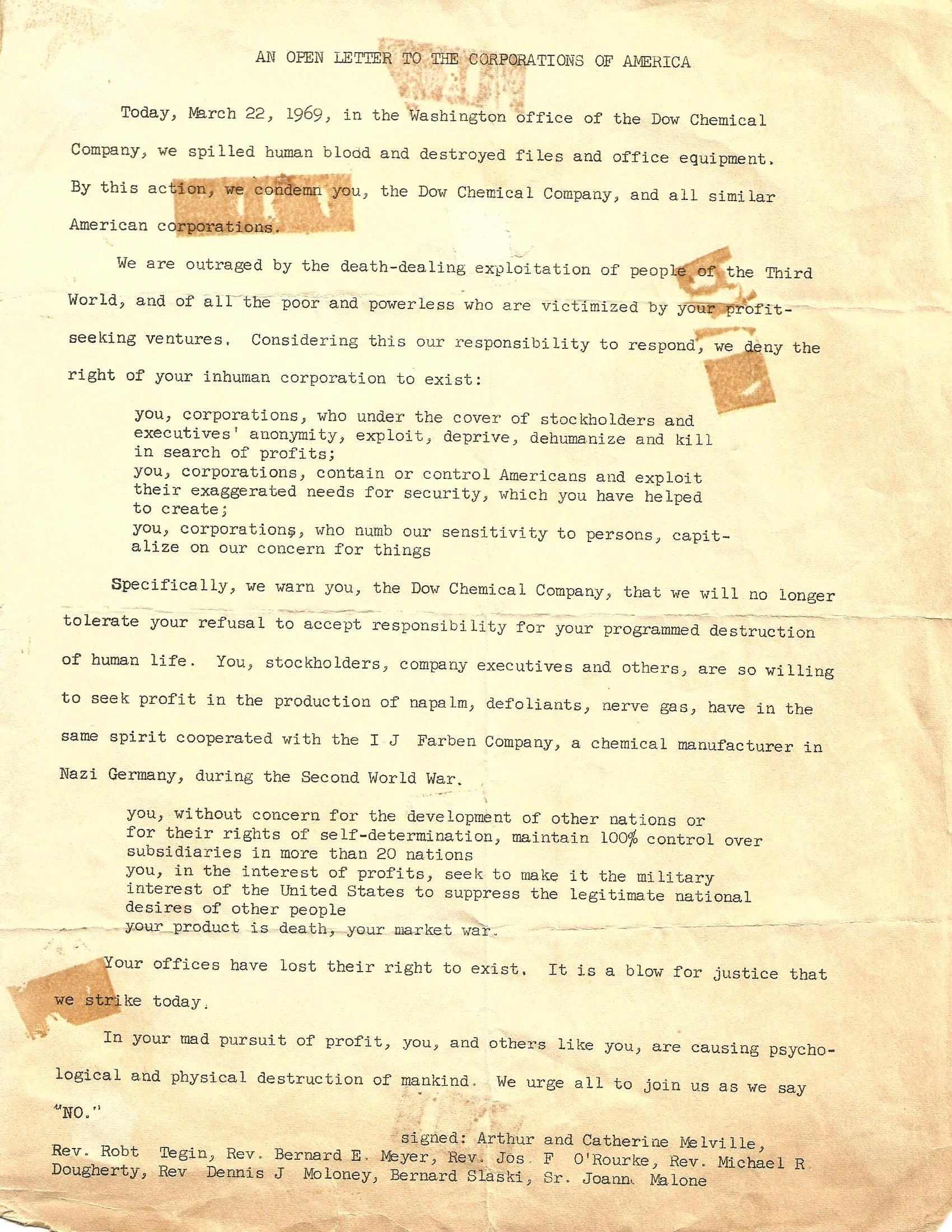 Lynn McSorley Open Letter