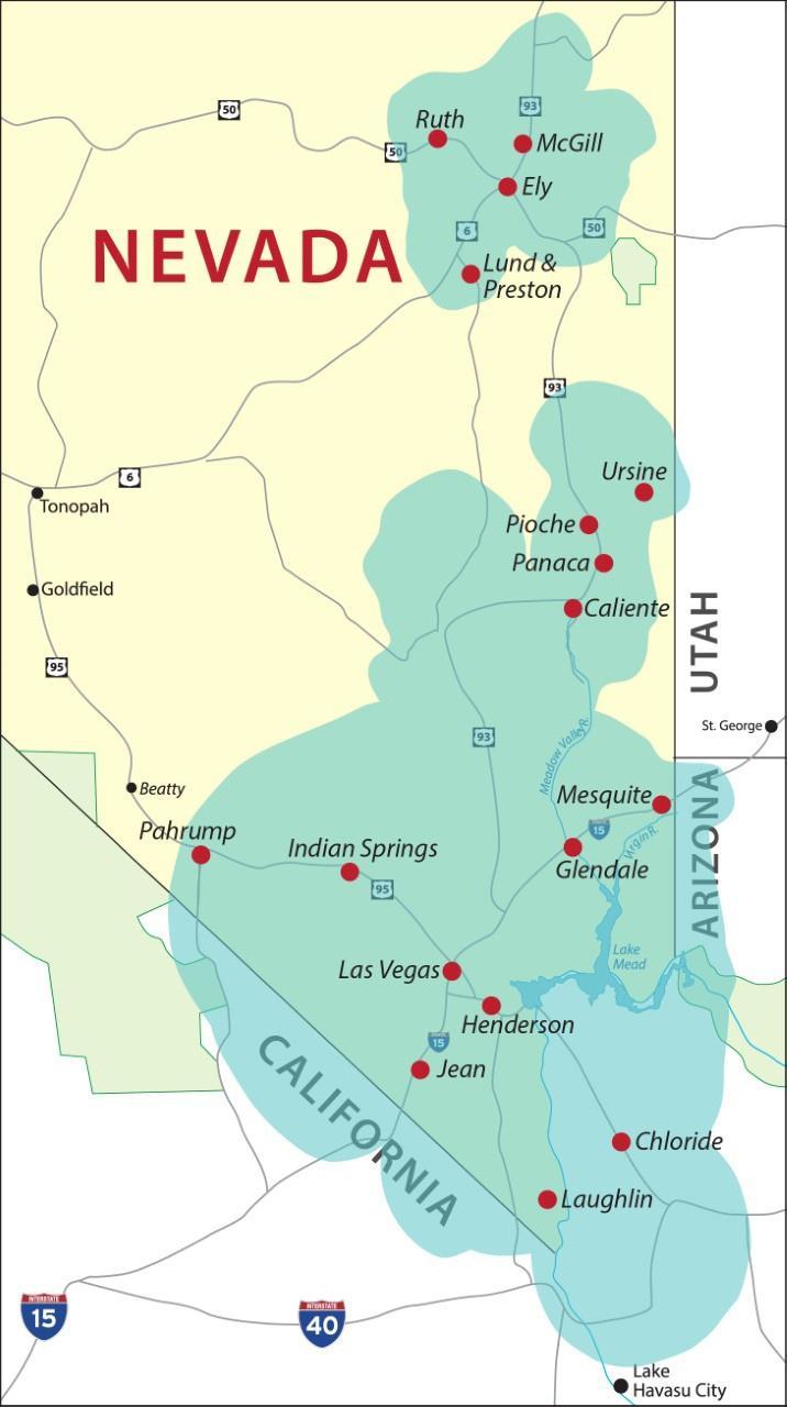 Vegas PBS Broadcast Area