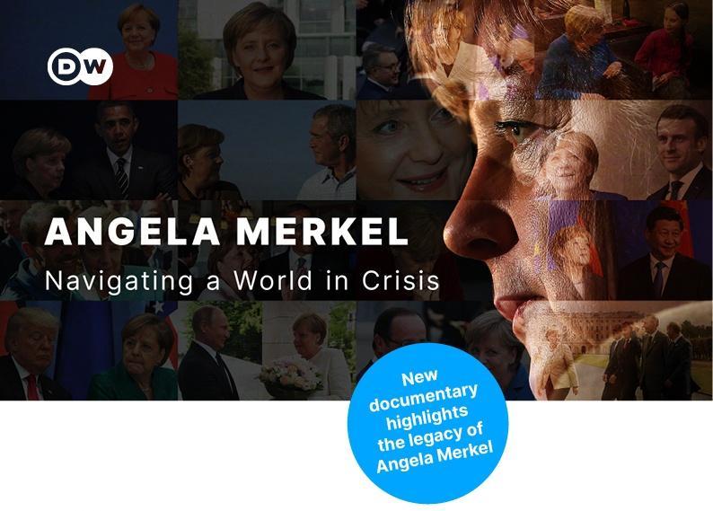 collage of images of Angela Merkel
