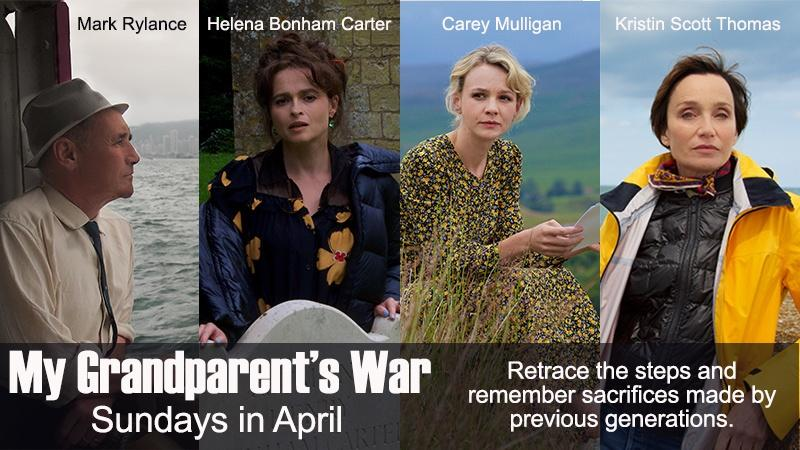 Mark Rylance, Helena Bonham Carter, Carey Mulligan and Kristen Scott Thomas retrace WWII lives of their grandparents.
