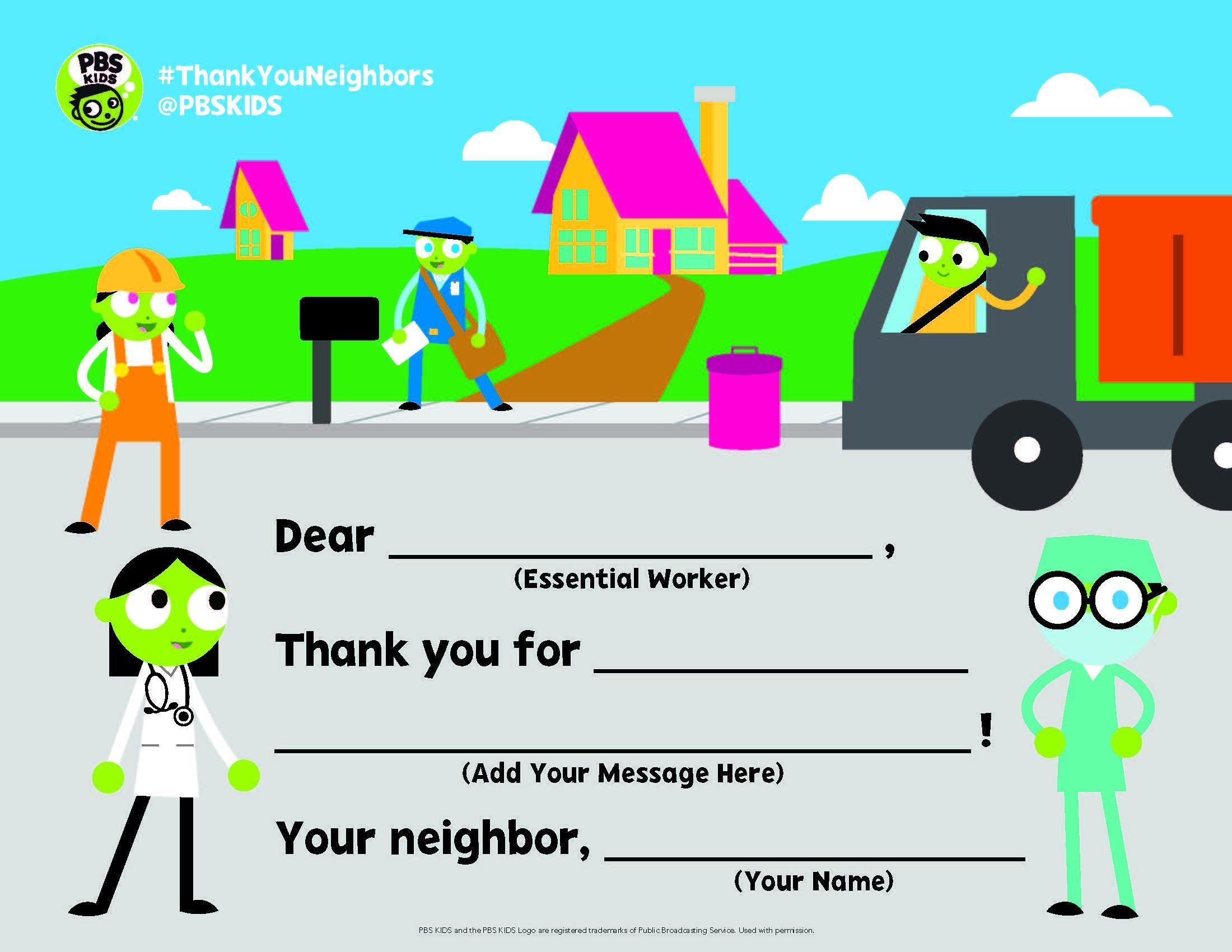 PBS Kids THANK YOU