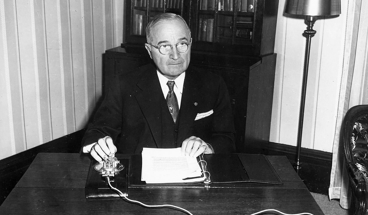 President Harry S. Truman at home in Independence, Missouri, on Christmas Eve, 12/24/51