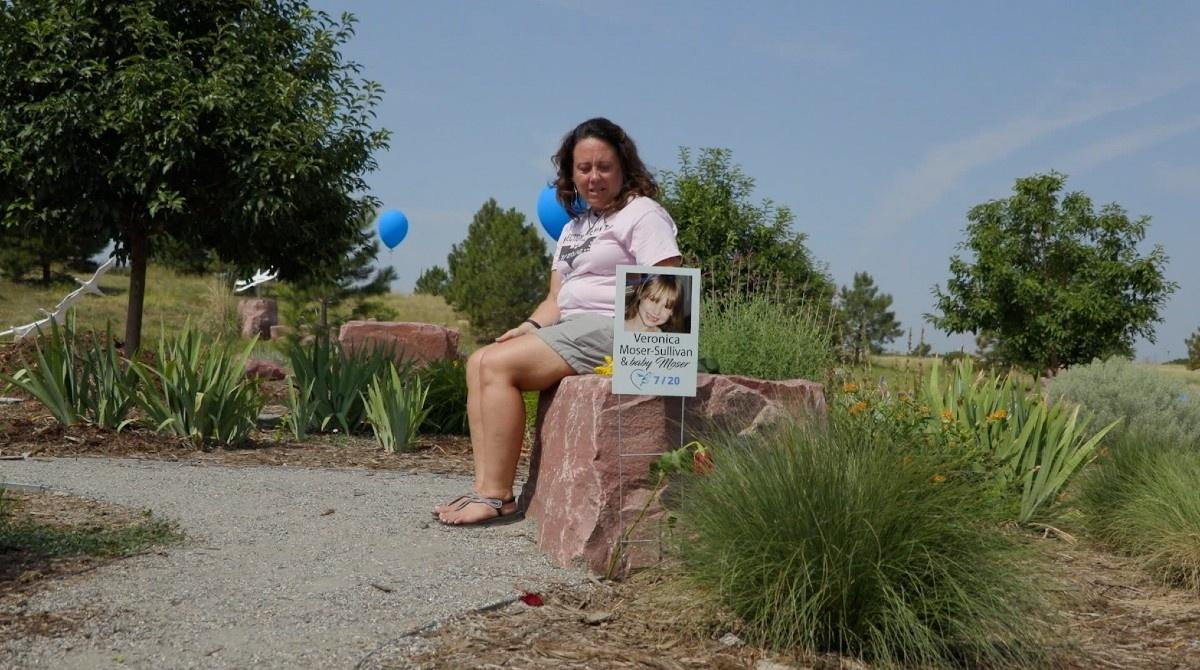 Heather Dearman's cousin, Ashley Moser, was wounded in the Aurora theater shooting, and Moser's daughter Veronica was killed. Dearman came to the garden on the ninth anniversary of the tragedy to reflect.