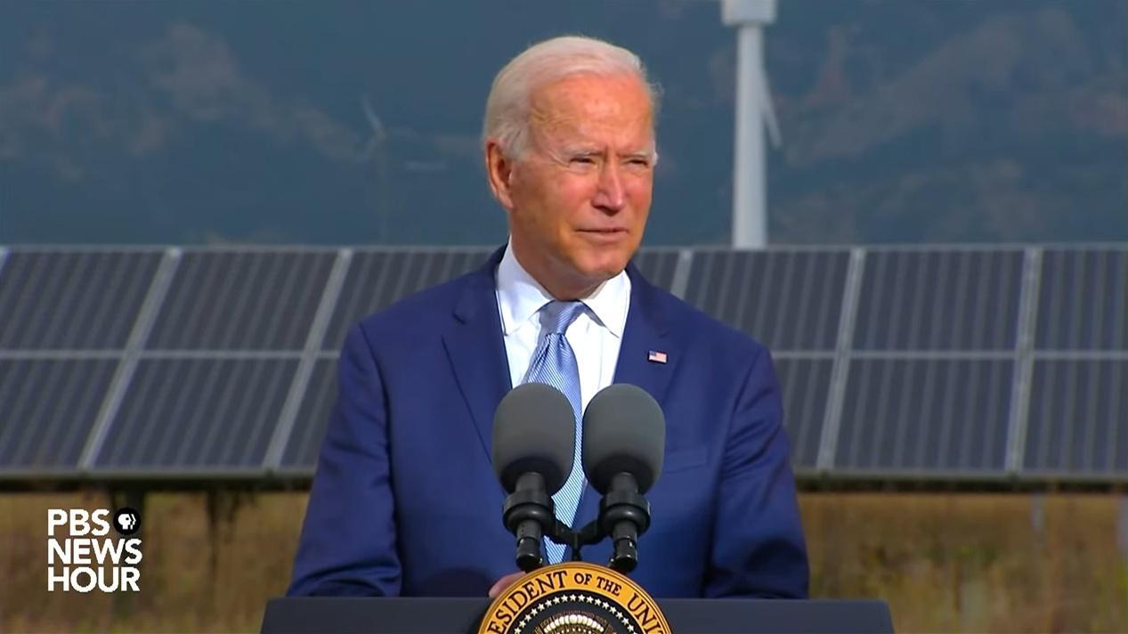 President Joe Biden at the National Renewable Energy Laboratory in Golden on September 14, 2021