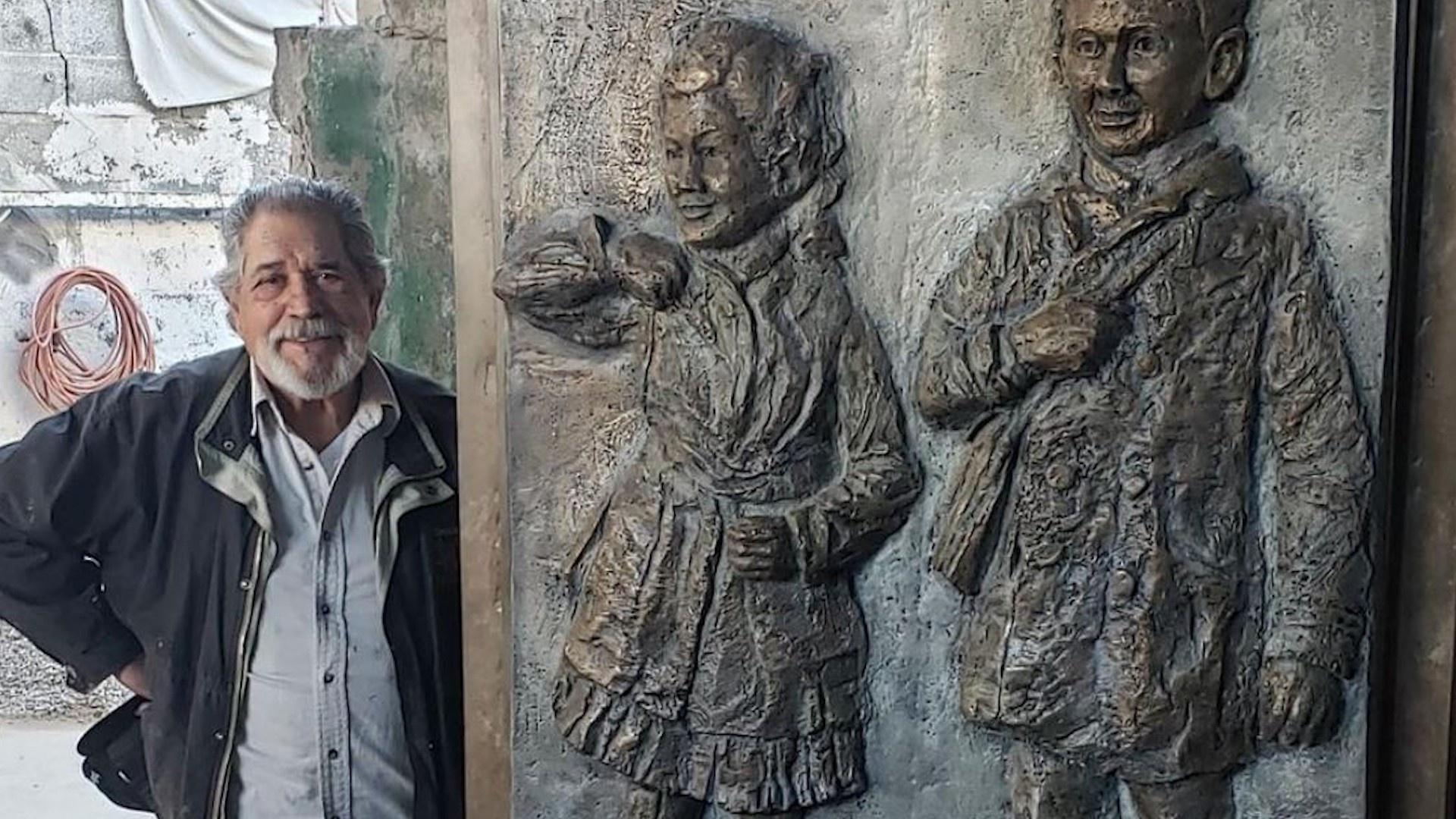 """A life-sized bronze relief sculpture commemorating the 1914 victory in educational desegregation will be placed inside the Alamosa Municipal Courthouse in 2022. The statue was designed, sculpted, and cast in bronze by Reynaldo """"Sonny"""" Rivera of New Mexico."""