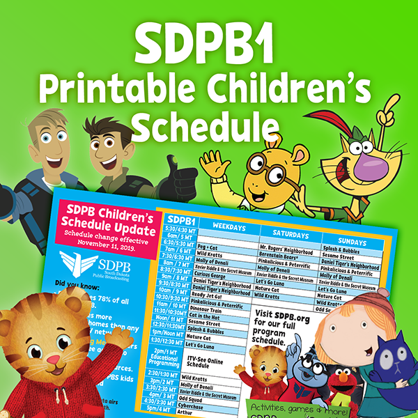 SDPB1 Printable Childrens Schedule