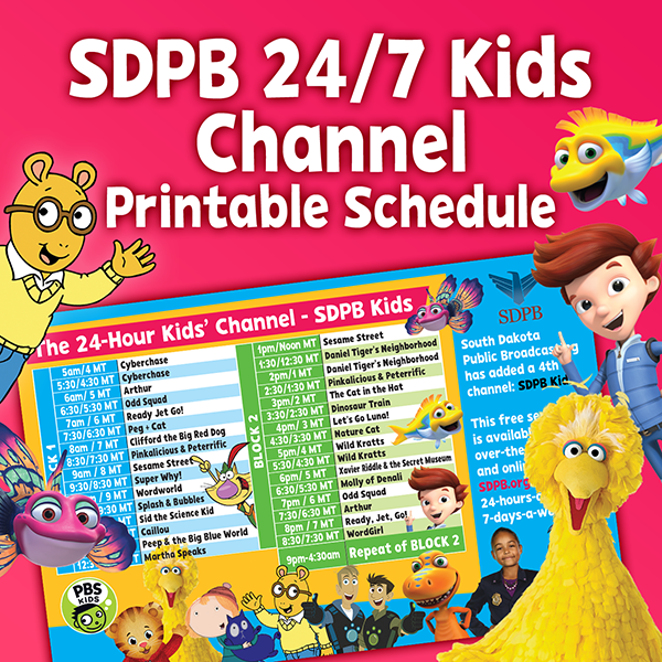 A Kids Channel printable schedule