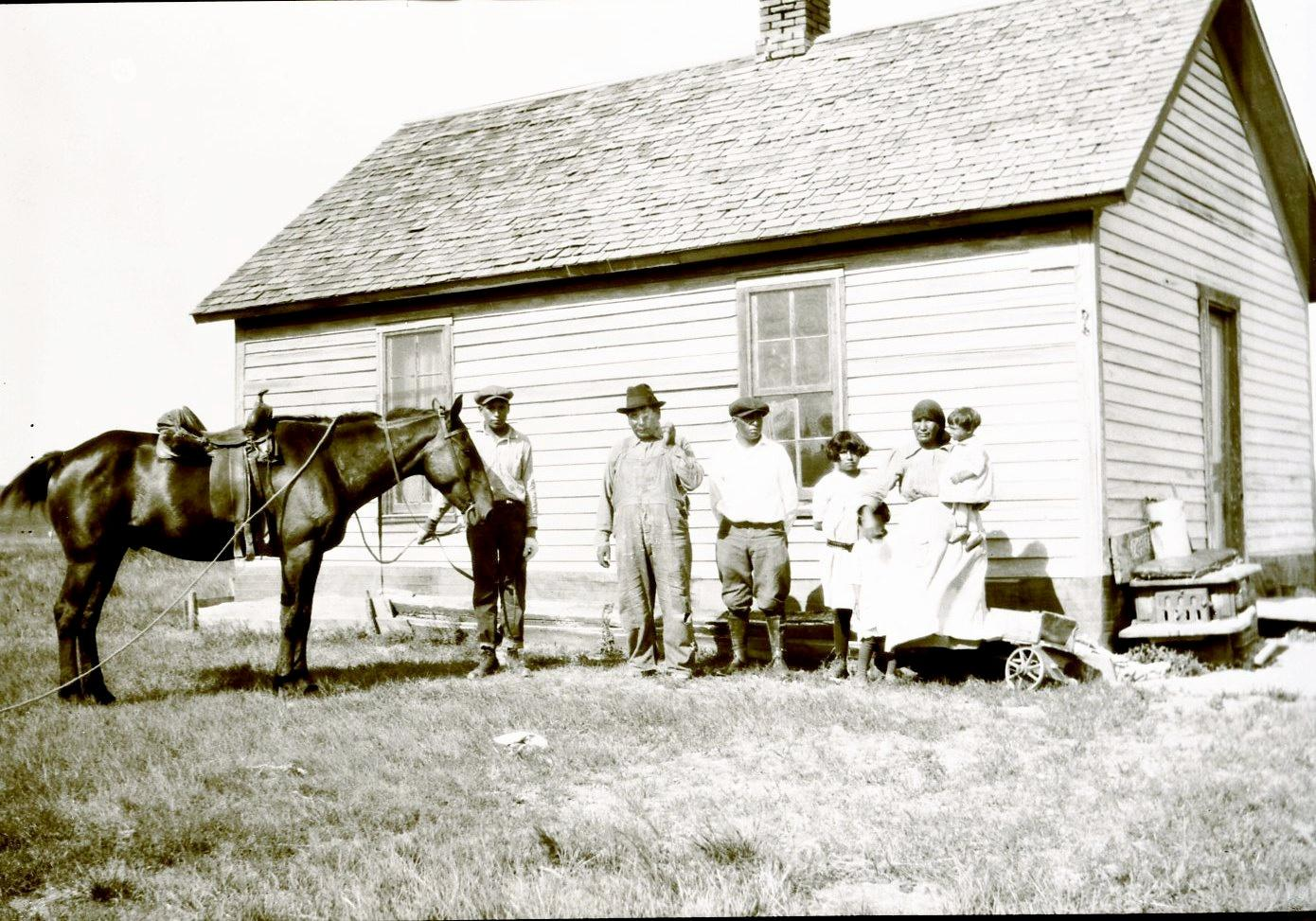 Russell Harrison, Family, Horse, and House