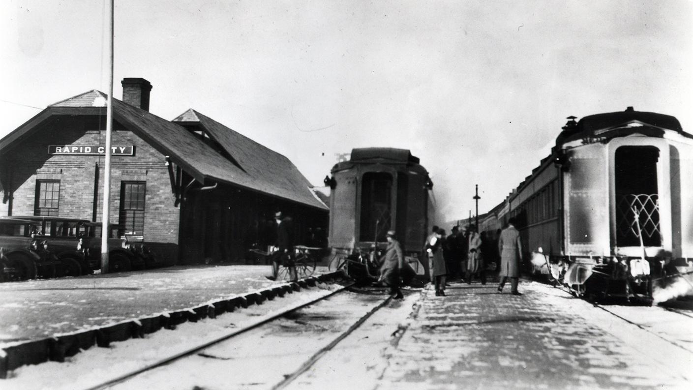 passenger train cars at Rapid City