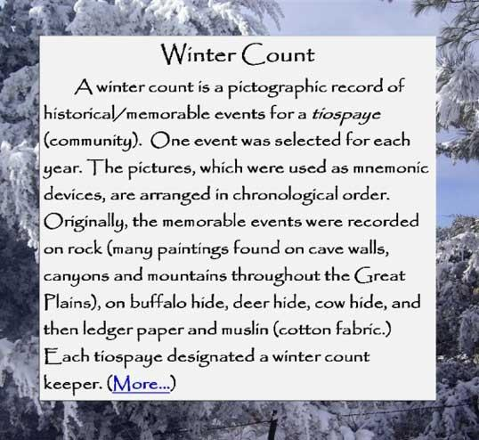Waniyetu Wowapi Winter Count Intro