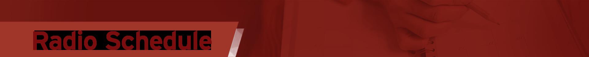 radio schedule banner