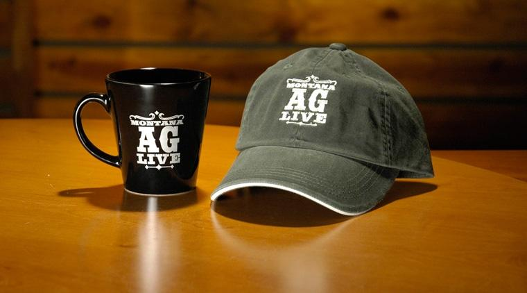 Montana Ag Live mug and hat