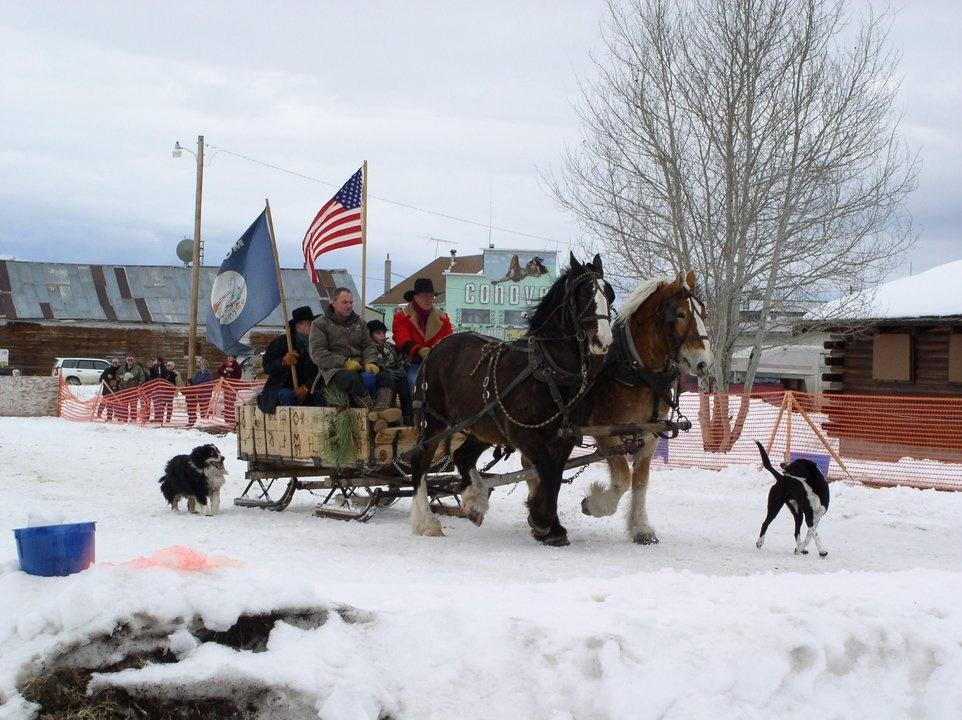 Skijoring event in the Big Hole Valley