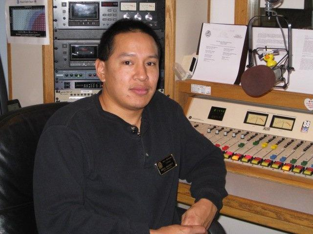 Brian and Robbie are DJs at KGVA radio on the Fort Belknap reservation