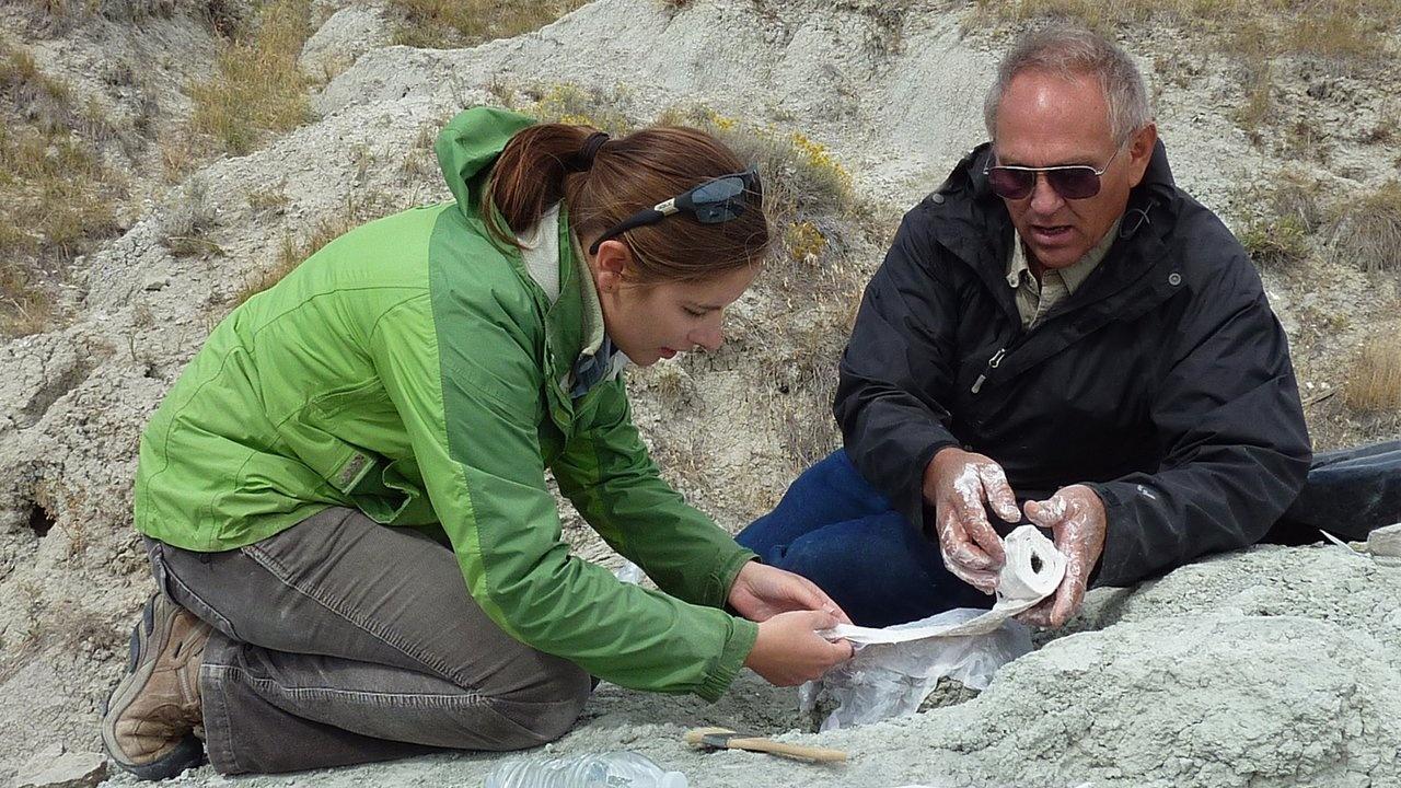 Stacia Martinea Dave Trexler Two Medicine Dinosaur Center dinosaur egg