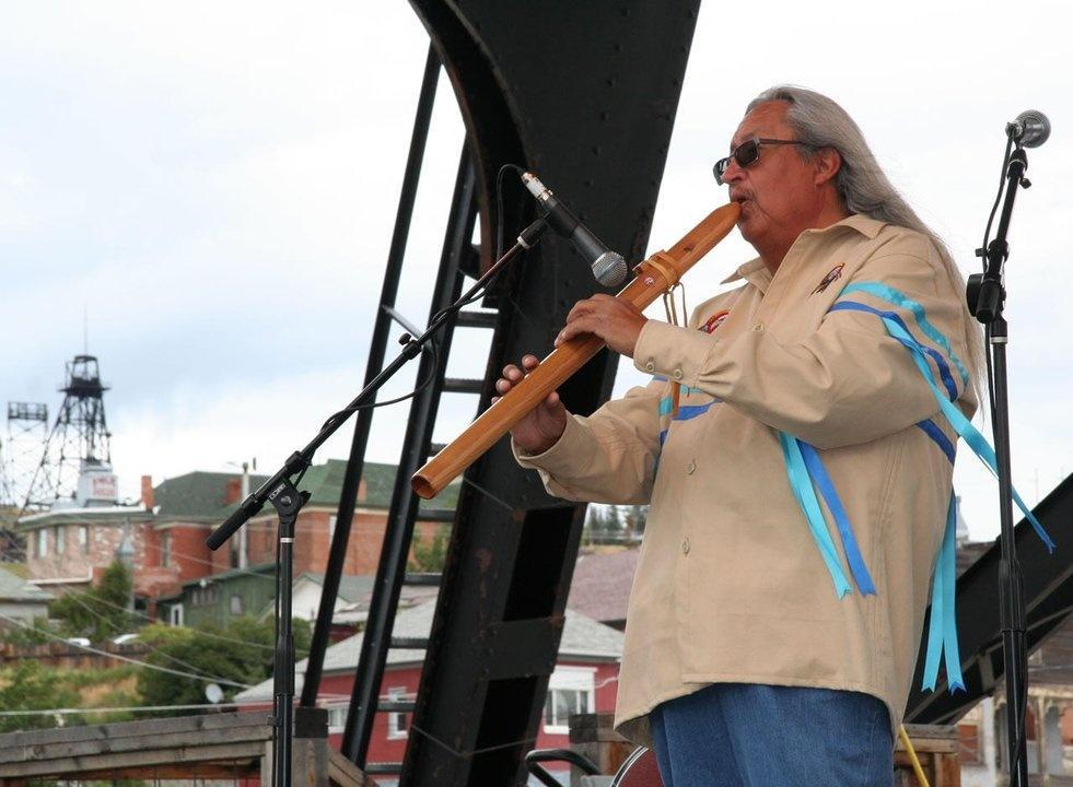 flute maker musician Troy DeRoche Hot Springs Montana Folk Festival Butte