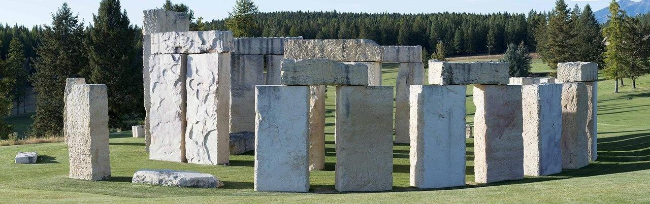 Stonehenge Air Museum Fortine replica limestone blocks 42 tons