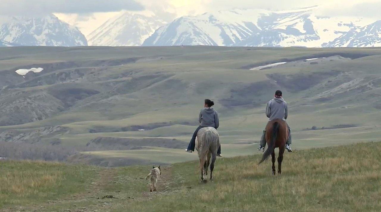 Myles Molly Murray Relay horses Browning Montana