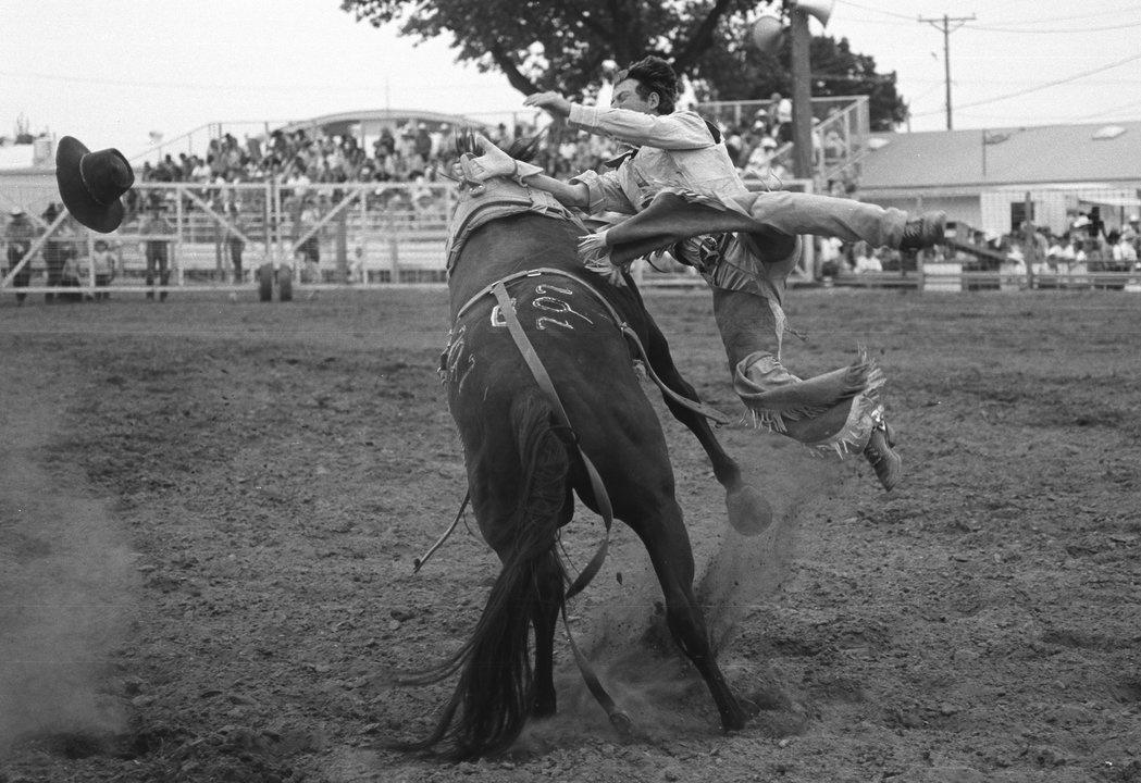 Cowboy gets bucked off a wild horse in Miles City