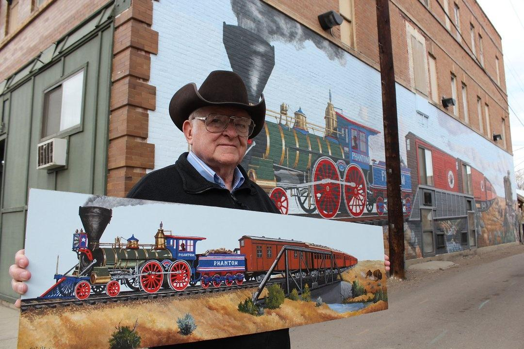 Bob Watts of Forsyth original painting and mural