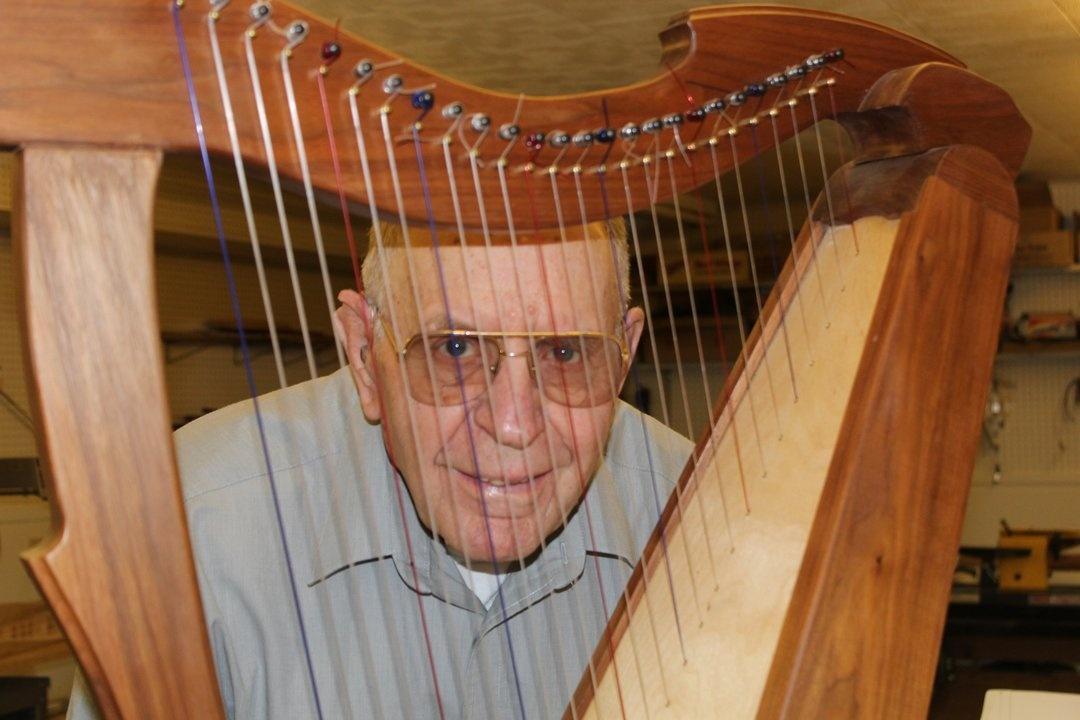Wayne Hampton in his workshop in Fort Benton