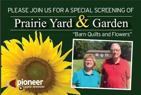 Barn Quilts and Flowers postcard