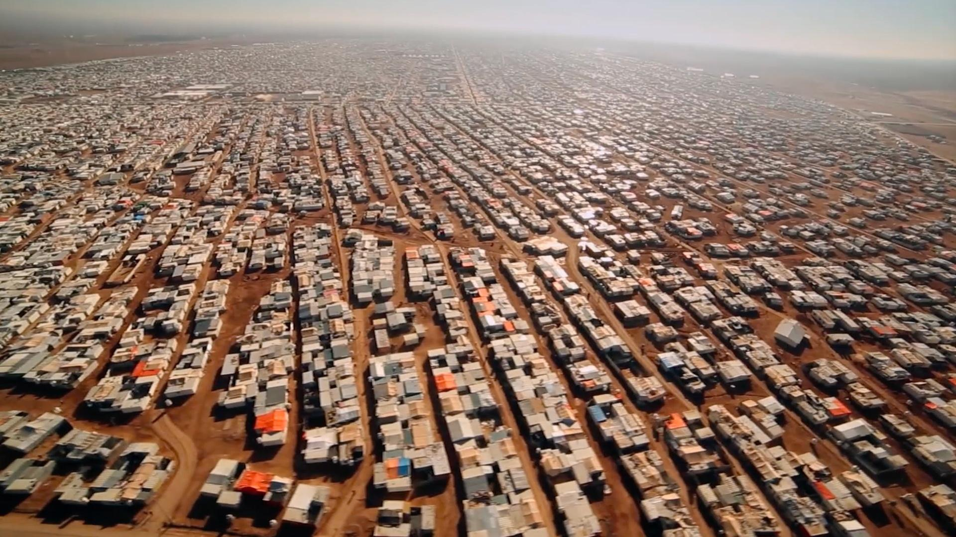 Za'atari Refugee Camp, Jordan is home to 80,000 refugees from Syria's civil war. Follow the water to see the role drought can play in war, and in politics around the world.