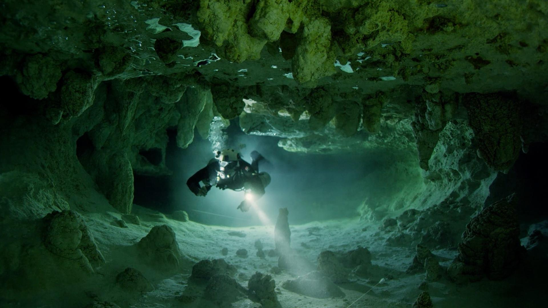 Aquifers, deep under our feet, together hold more water than all the lakes and rivers on earth, and are unaffected by drought or flooding. This one is beneath Tulum, Mexico.