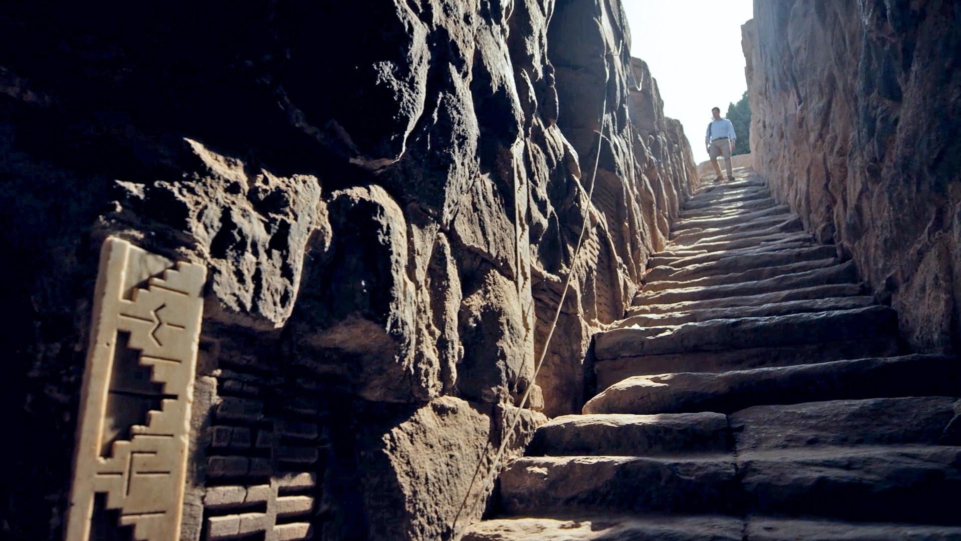 Down an ancient staircase in Egypt is a Nilometer, the oldest river gauge in the world. It was used 2,500 years ago by temple priests to monitor the height of the river.