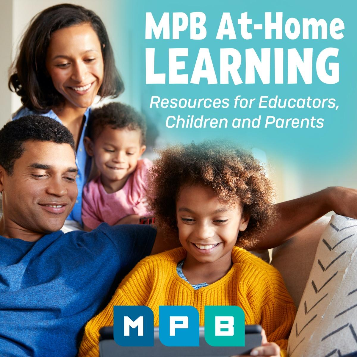 Parents using distance learning tools with children