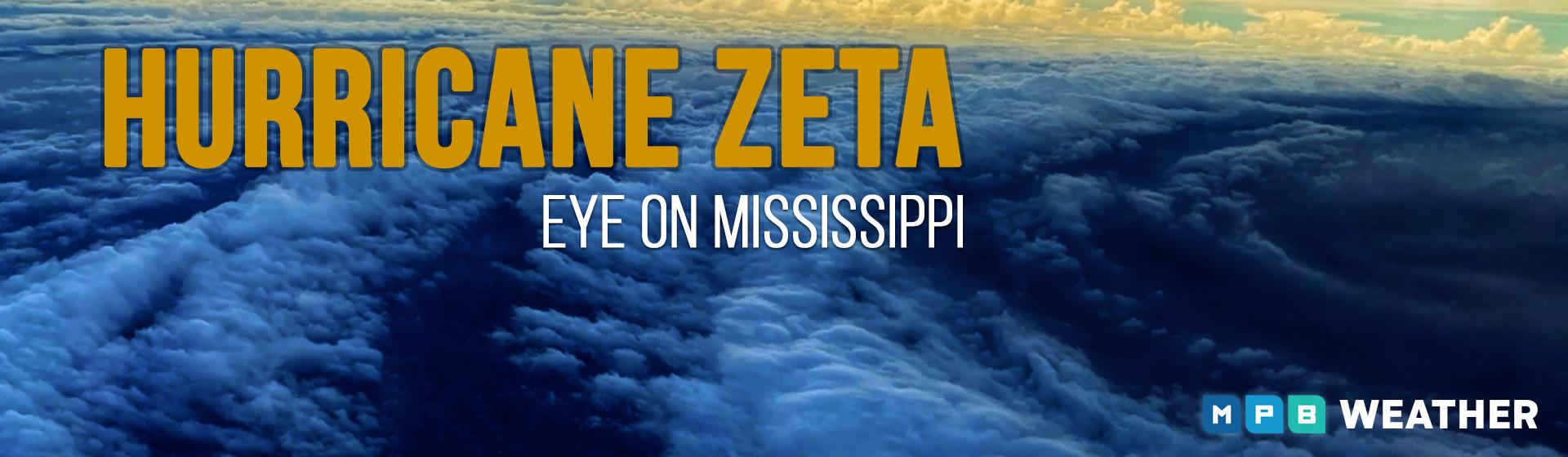 Hurricane Zeta graphic